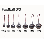 VMC Football Jigs Gr. 3/0