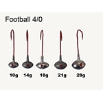 VMC Football Jigs Gr. 4/0