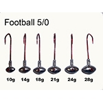 VMC Football Jigs Gr. 5/0