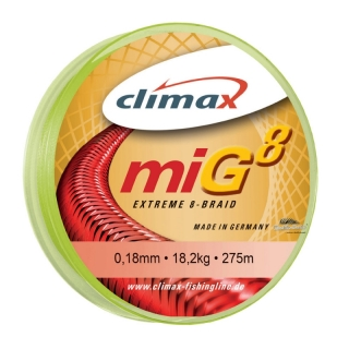 Climax miG 8 extreme 8-Braid fluo gelb (10m) 0,12mm