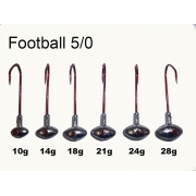 VMC Football Jig Gr. 5/0 (25 Stck) 14g