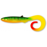 Quantum Yolo Curly Shad 21cm Firetiger Hot Tail