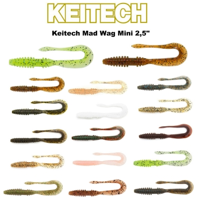 Keitech Mad Wag Mini 2,5