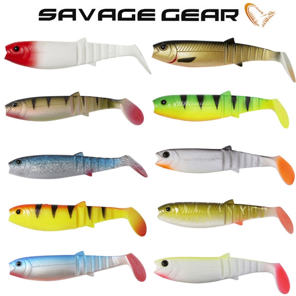 Savage Gear Cannibal Shad Gummifisch 6 Stück 8 cm 5g Farbe  Fluo Yellow