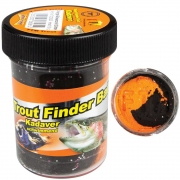 FTM Trout Finder Bait Kadaver orange/schwarz glitter...