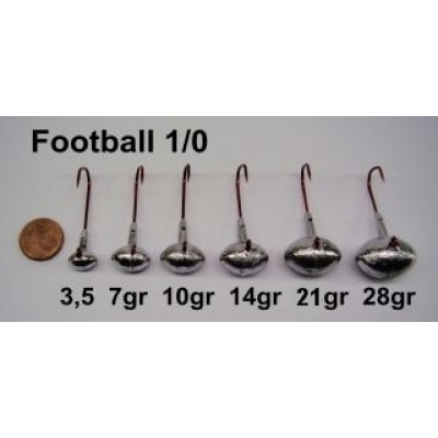 VMC Football Jig Gr. 1/0 (25 Stck)   7g