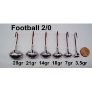 VMC Football Jig Gr. 2/0 (25 Stck)   7g