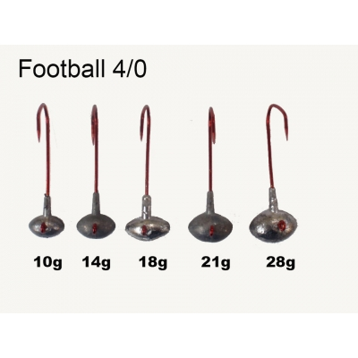 VMC Football Jig Gr. 4/0 (25 Stck) 21g